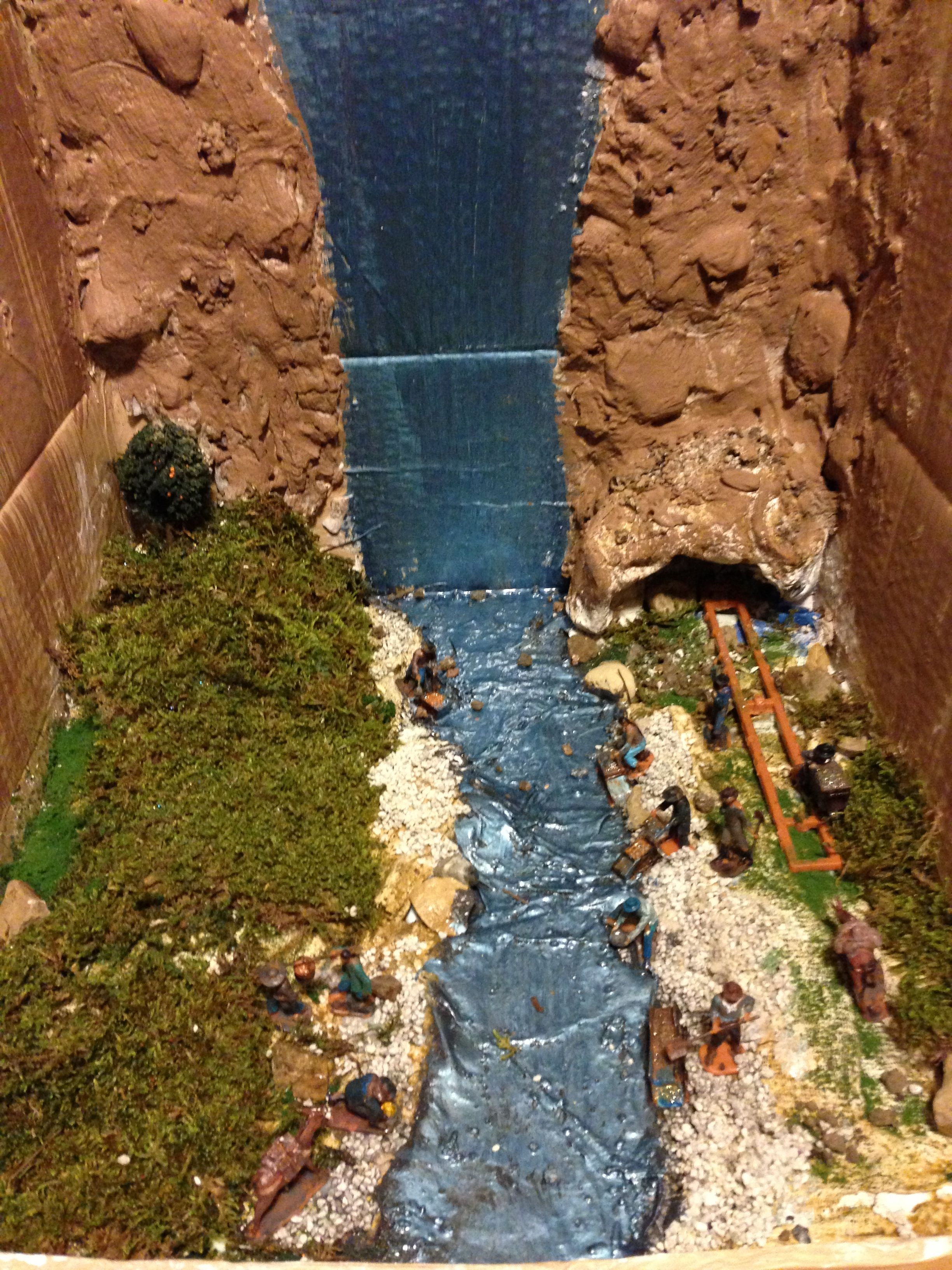 California Gold Rush Diorama My 4th Grader Made