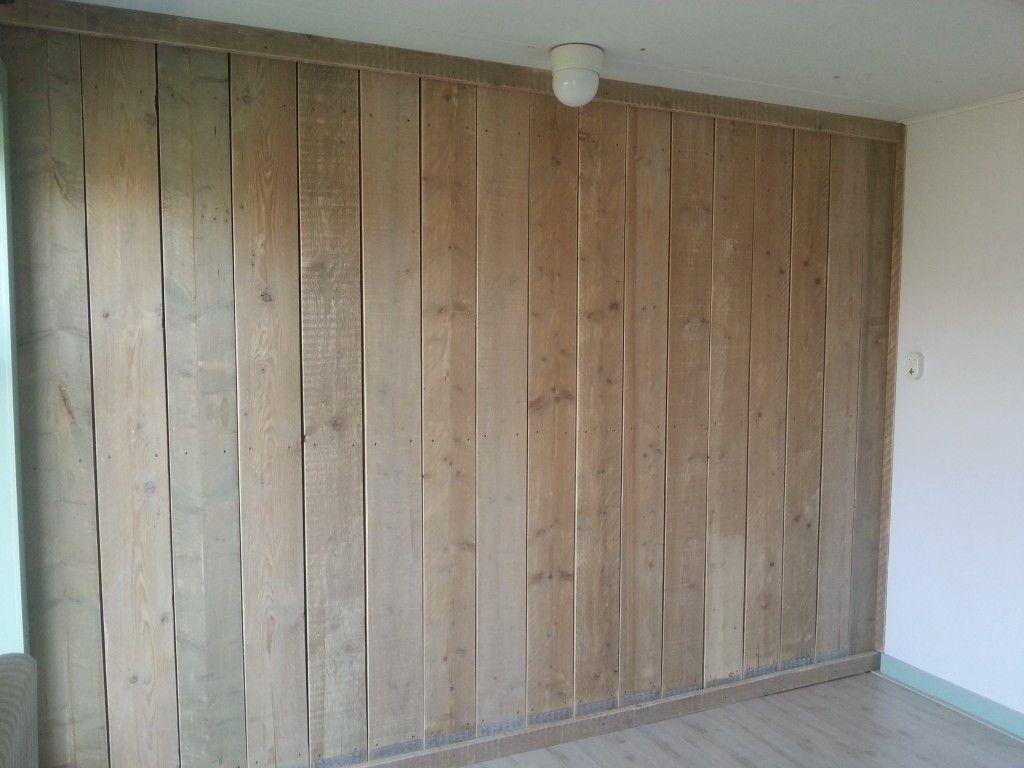 Wanden Van Steigerhout : Stoere wand van gebruikt steigerhout overal mogelijk en geeft een