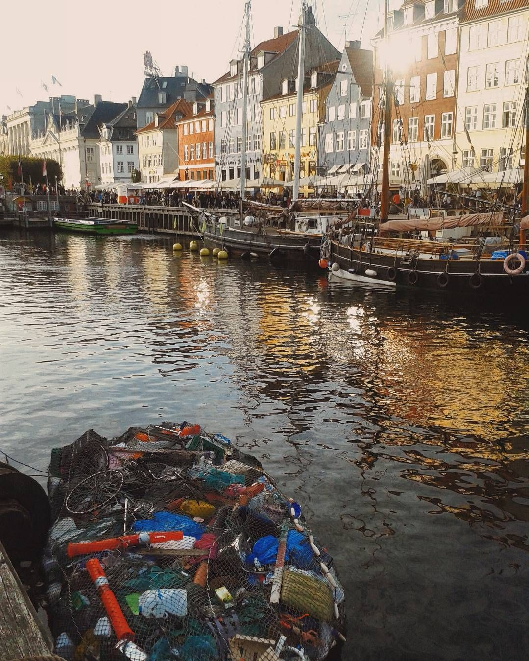 Floating rubbish collection in copenhagen as capitals go