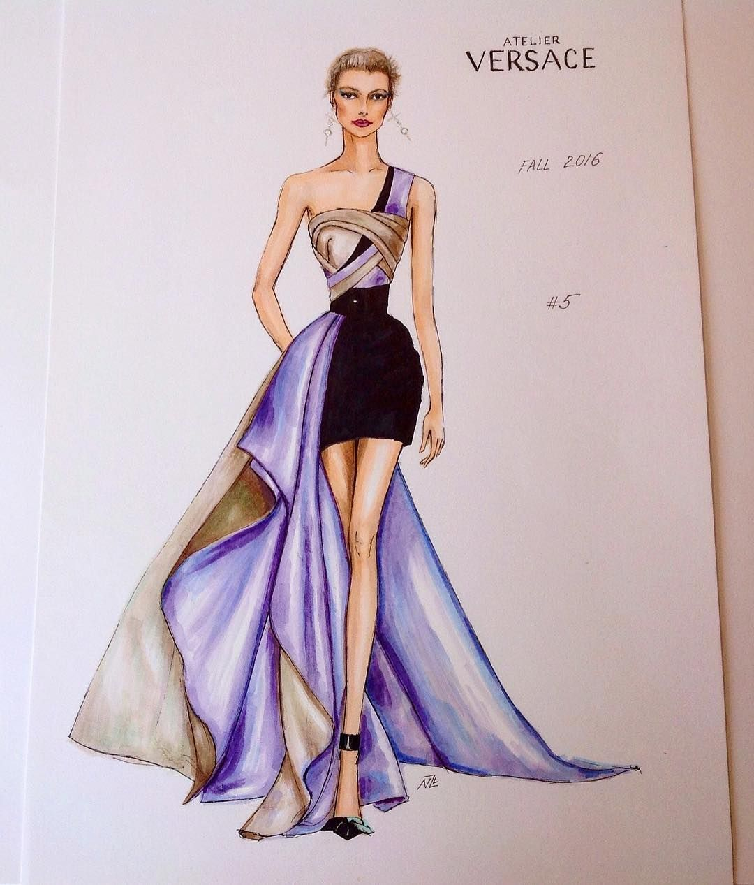 Fashion Fashionillustration Versace Luxury Designer Paris