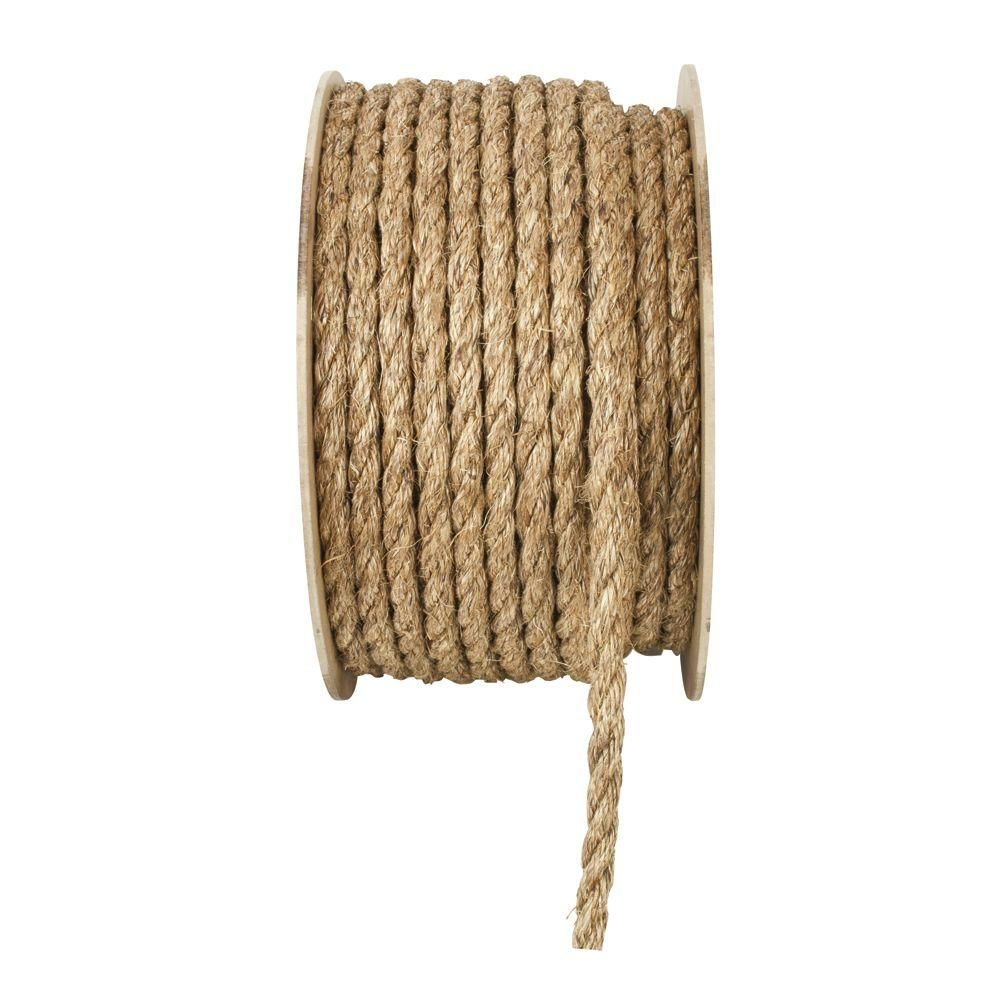 Everbilt 1 In X 1 Ft Manila Twist Rope Natural 70296 Manila Rope Synthetic Rope Best Knots