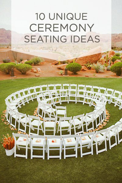 10 Unique Ceremony Seating Ideas | Unique, Wedding and People