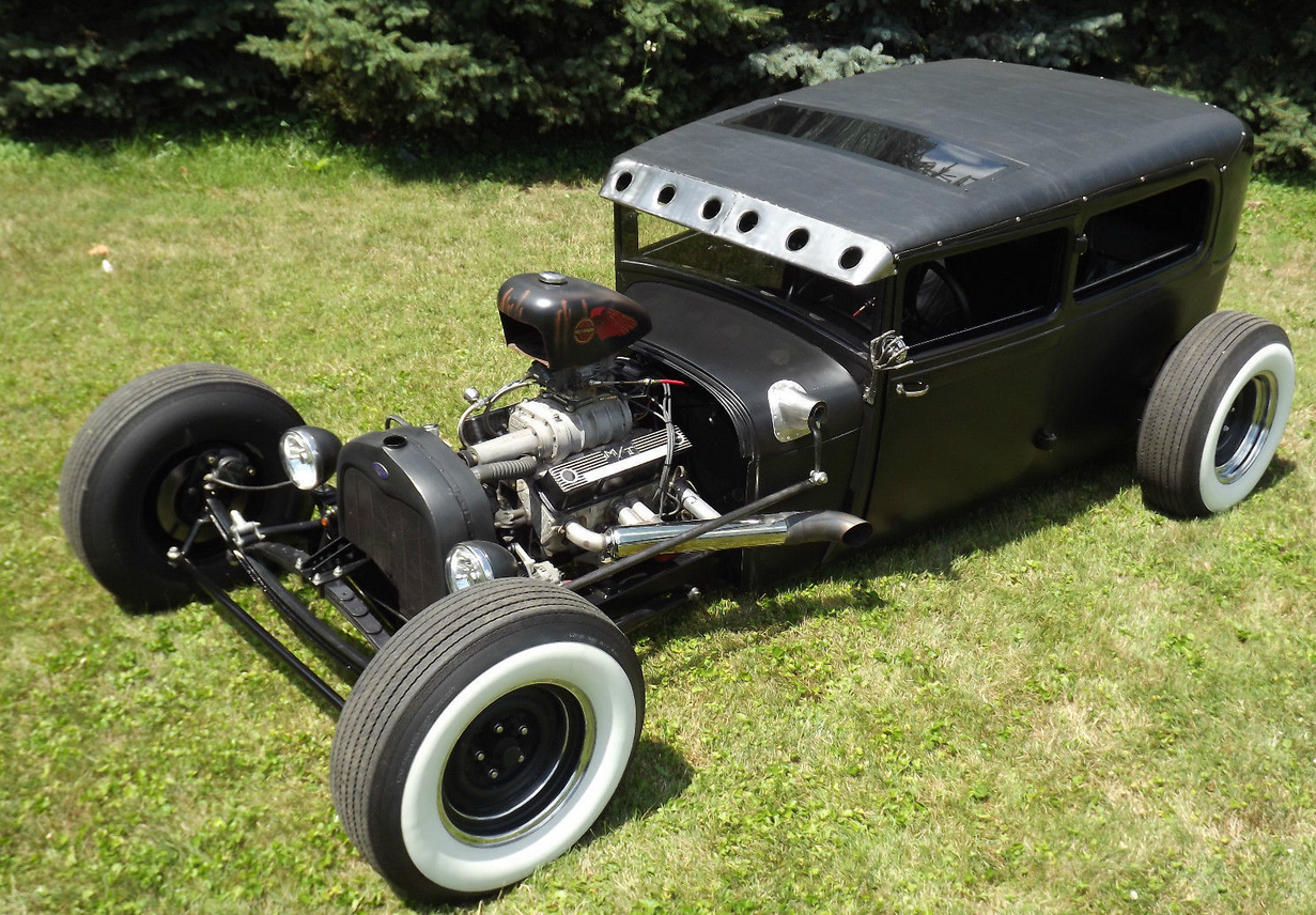 Blown 1929 FORD model A Tudor Rat Rod   Ford Model A   Pinterest ...