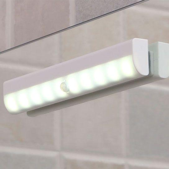 10 LED Motion Sensor Night Light DIY Stick On Closet Cabinet Lights Battery  Operated
