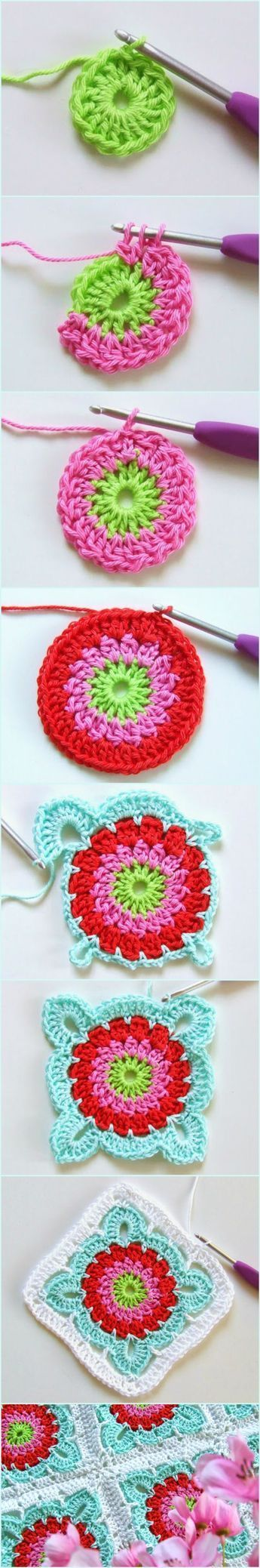 How To Crochet Large Flower Granny Square Blanket Tutorial They Are