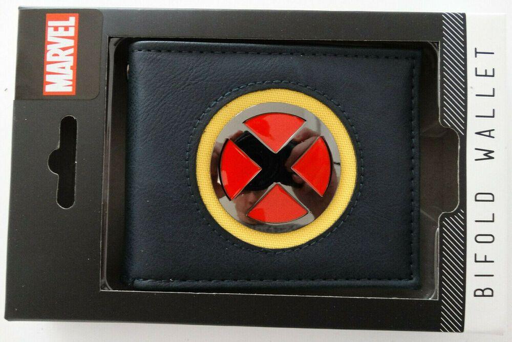 X-Men Logo Marvel Comics Gift Boxed Bifold Wallet NWT