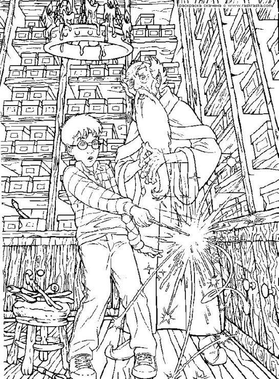 Gallery Ru фото 1 гарри поттер Nadya S раскраски в