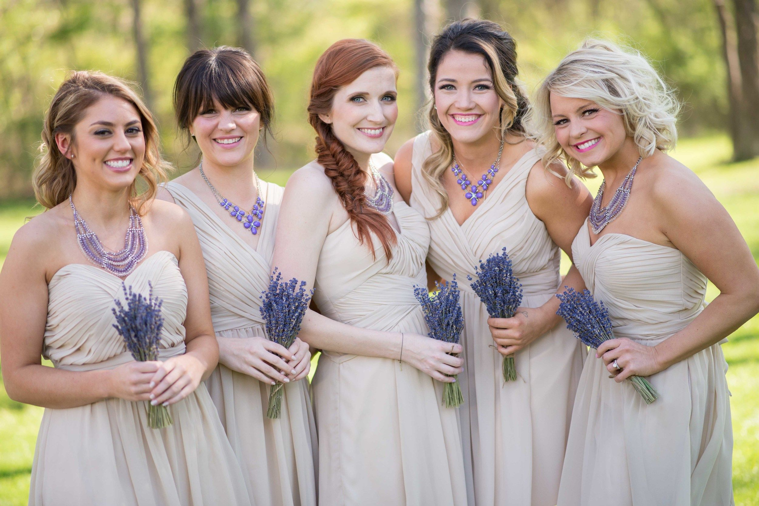 Cutest bridesmaids in their beige dresses with pops of lavender in cutest bridesmaids in their beige dresses with pops of lavender in their bouquets and necklaces love this look especially for a southern country ombrellifo Image collections