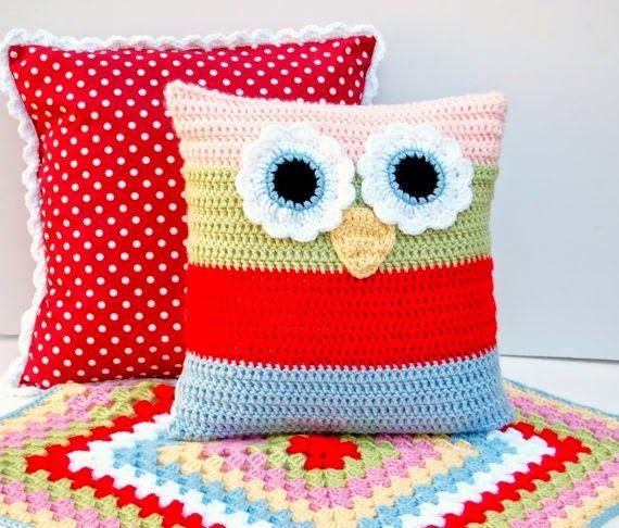 tapete de croche de coruja - Pesquisa Google | Crochê (Square,mantas ...
