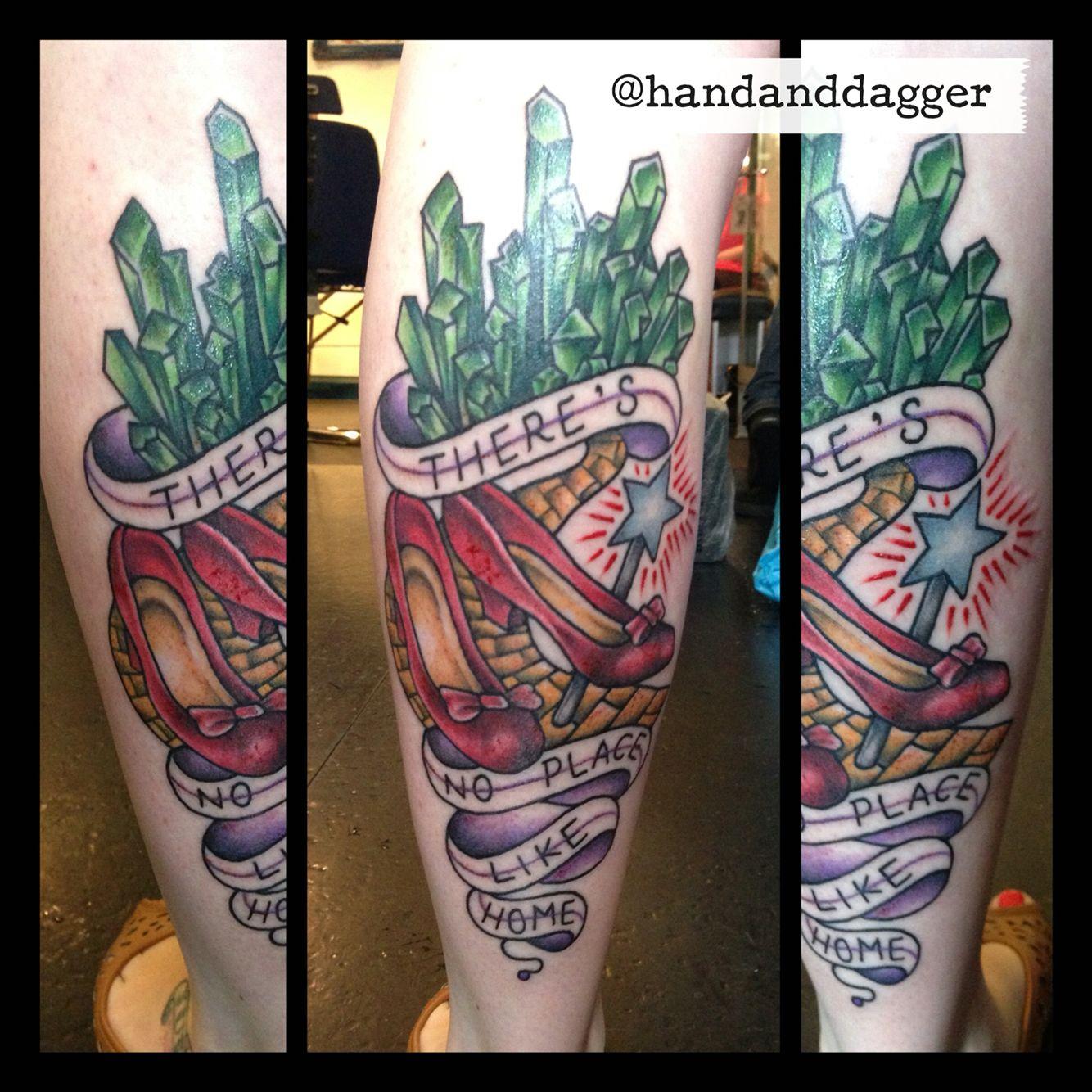 c41b92e1e Traditional Wizard Of Oz tattoo by Jenna Hayes @handanddagger Tattoo Studio,  Belfast