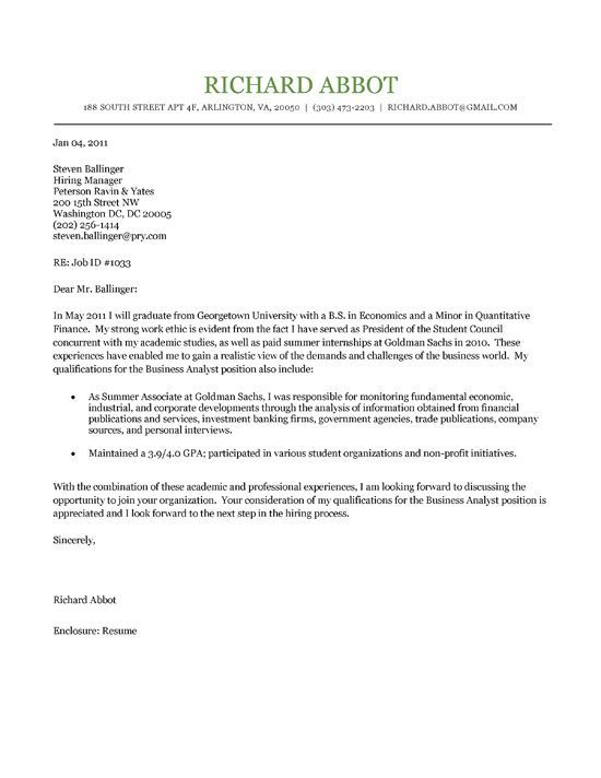 cover letter template college student college cover