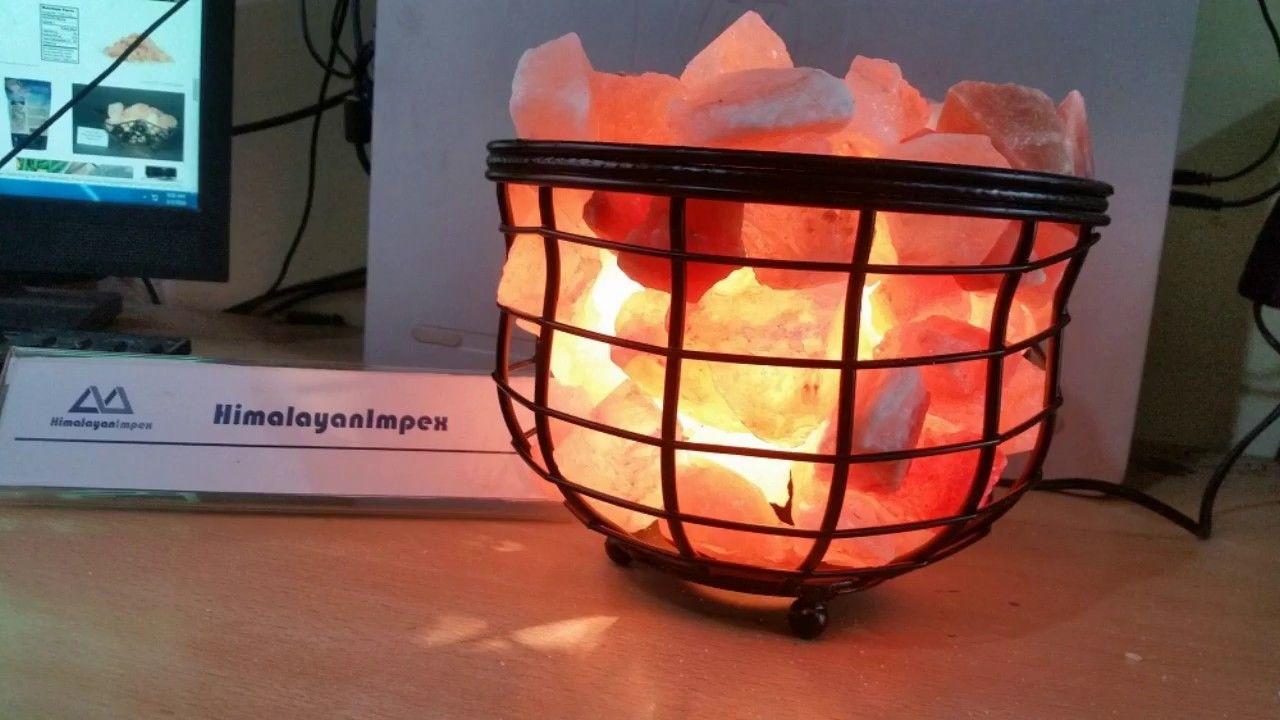 Himalayan Salt Basket Lamps Lamp Himalayan Salt Lamp Salt Lamps