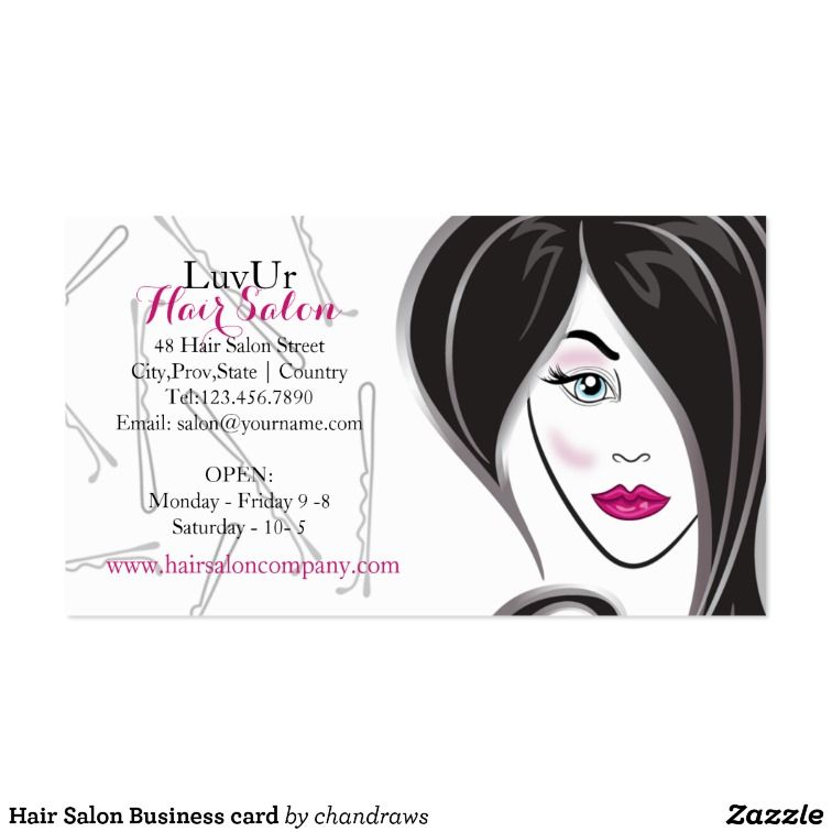 Hair Salon Business card | Salons and Salon design