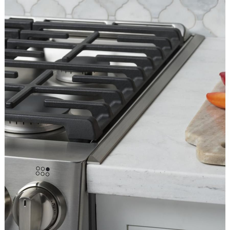 Ge 30 In Gas And Electric Range Filler Trim Kit Stainless Steel Lowes Com Slide In Range Gas Range Double Oven Gas Oven