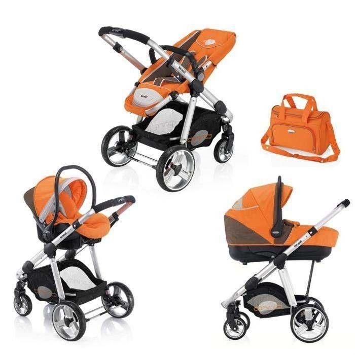 poussette brevi ovo trio auto orange nacelle si ge auto. Black Bedroom Furniture Sets. Home Design Ideas
