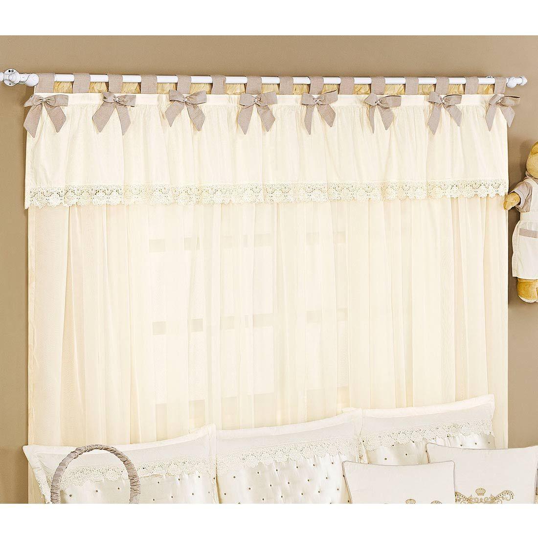 cortina para varo simples com metros quarto enxoval para beb imperial palhau