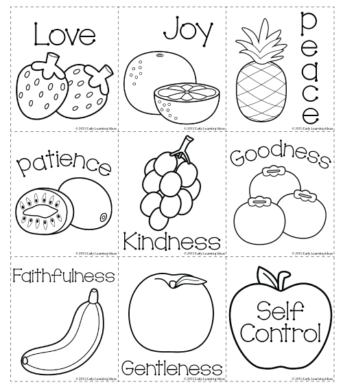 photo about Fruits of the Spirit Printable titled fruit-of-the-spirit Bible Sunday college or university routines