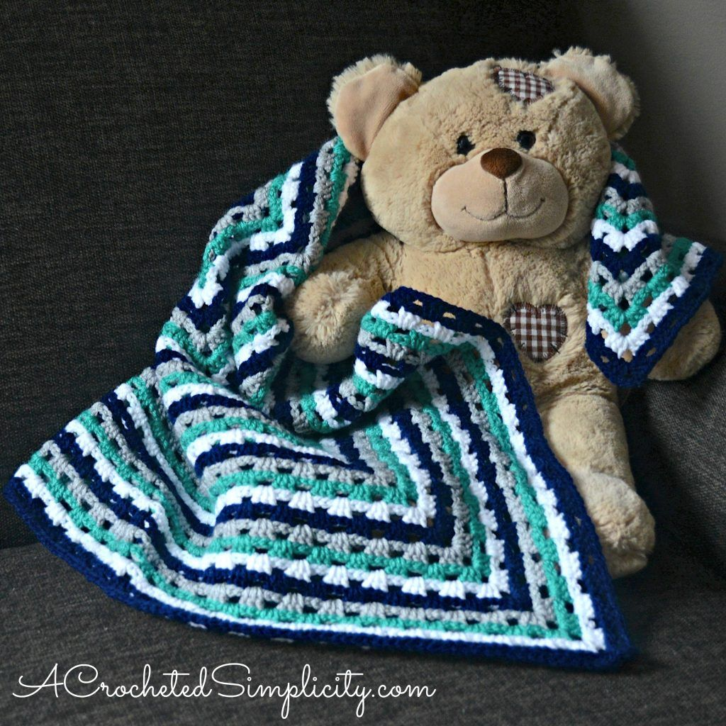 Free Crochet Pattern - Get in Line Granny Afghan (video tutorial ...