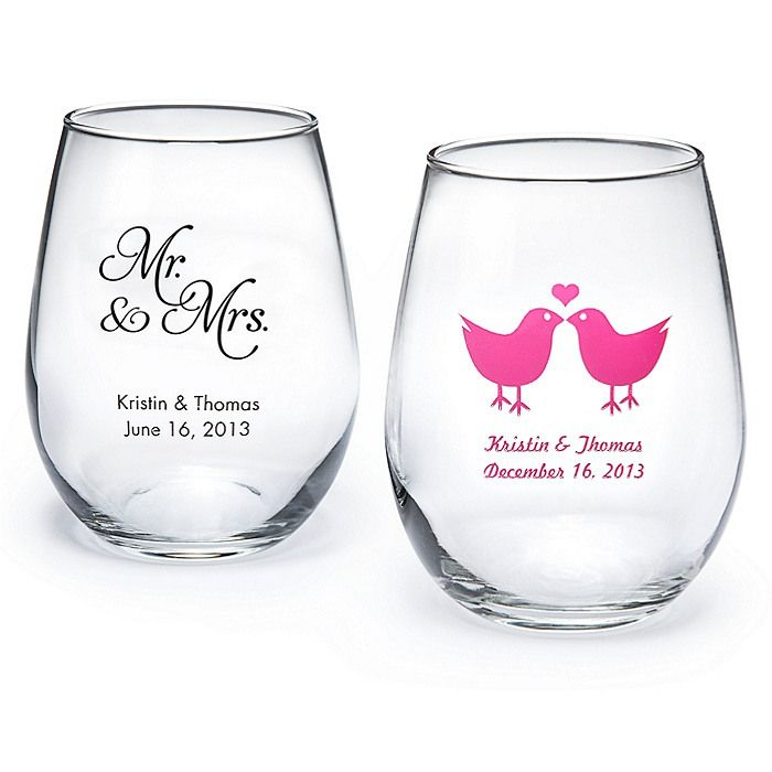 Personalized Stemless Wine Glass Small Favors Pinterest