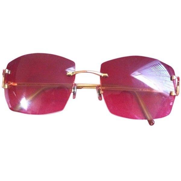 dd3d2f4a65f3 Pre-owned Cartier Rimless Sunglasses ( 618) ❤ liked on Polyvore featuring  accessories