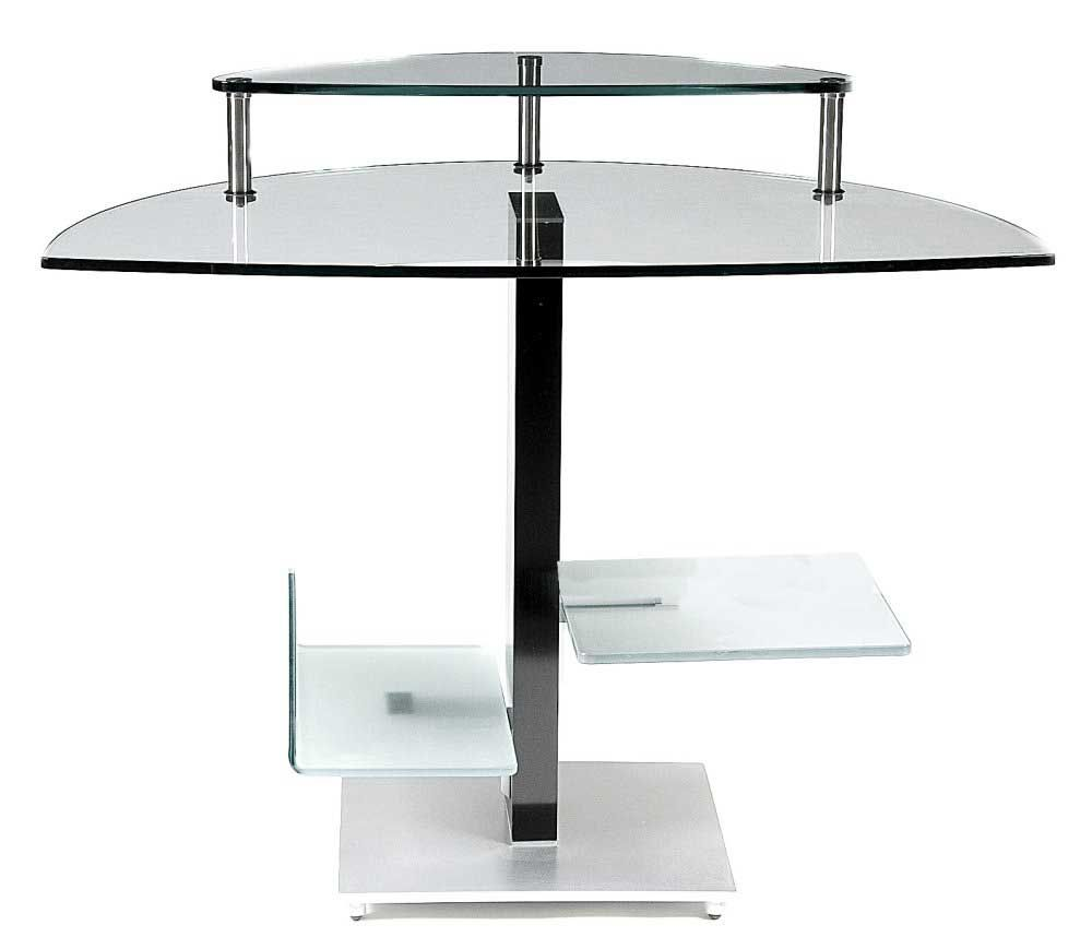 design custom finishing advantages computer desk office chrome home for image with glass modern of shaped a l