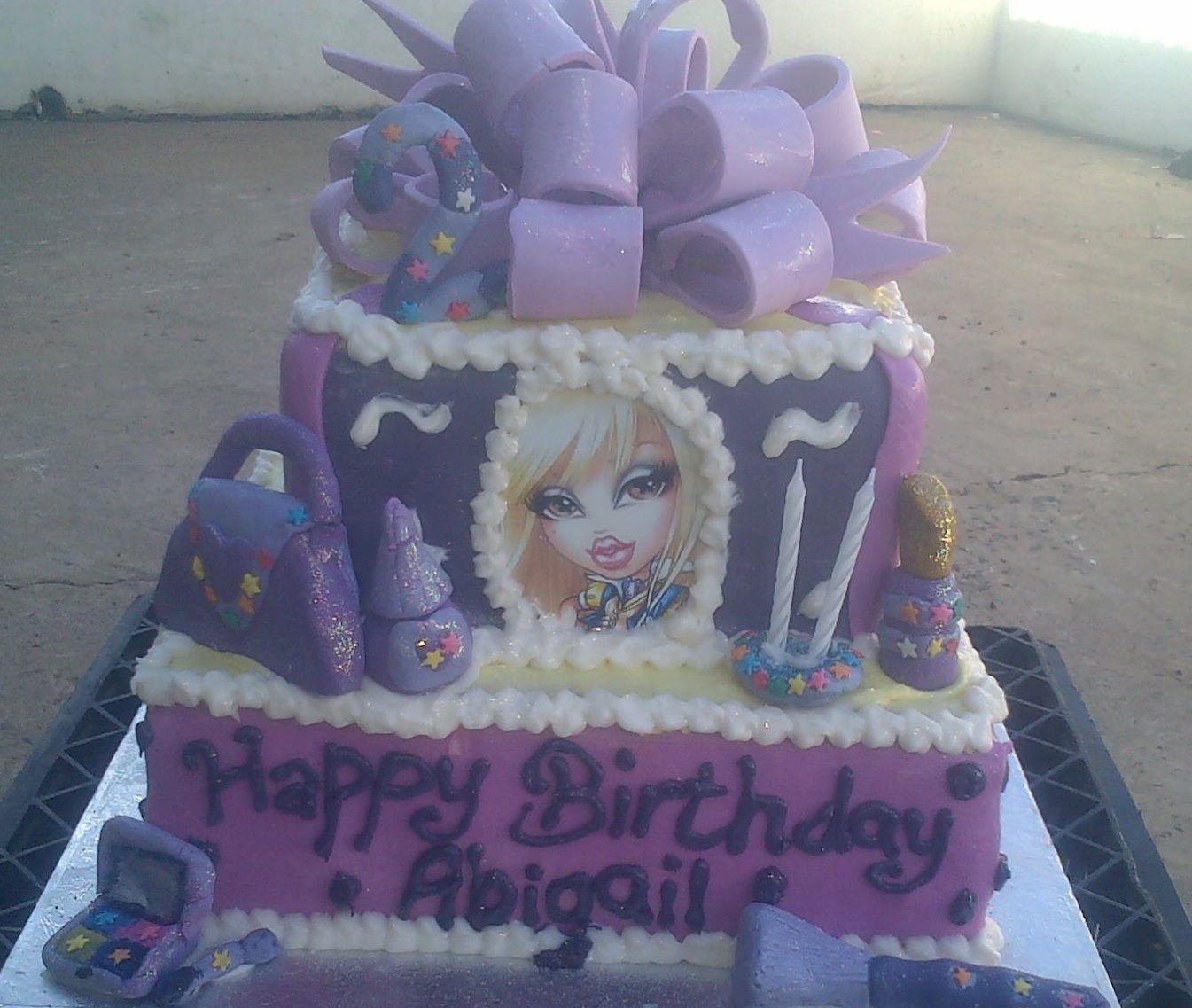 Strange Bratz 2 Tier Birthday Cake With Images Tiered Cakes Birthday Personalised Birthday Cards Akebfashionlily Jamesorg