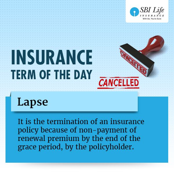 Insurance Term Of The Day Lapse Learnwithsbilife Day Term