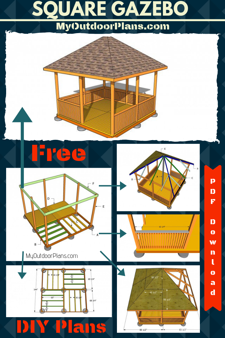 Square Gazebo Plans Gazebo Plans Wooden Gazebo Plans Gazebo Roof