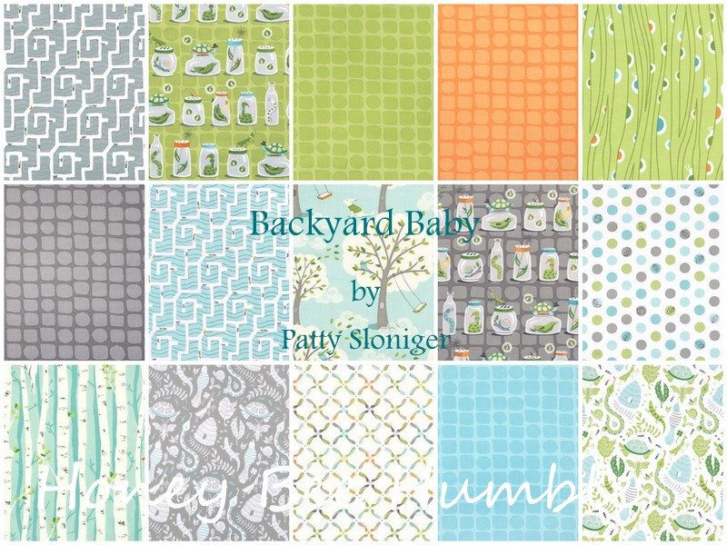 backyard baby fabric michael miller
