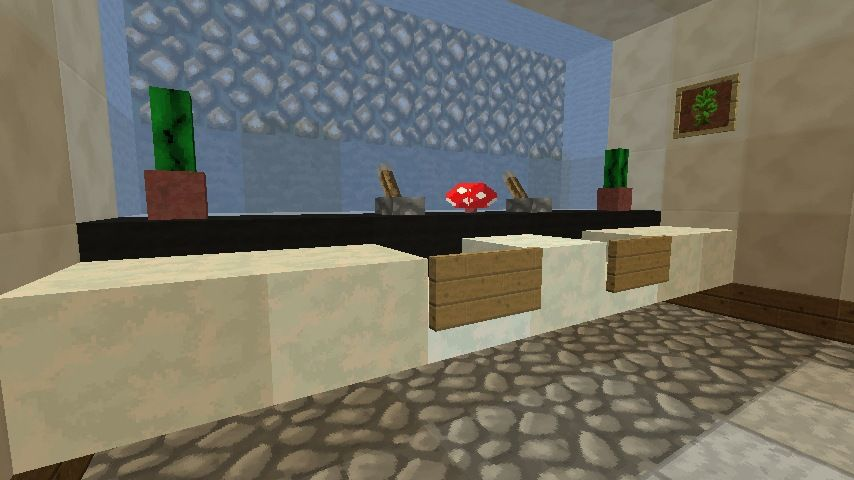 Minecraft Furniture - Bathroom | Minecraft Buildings ...