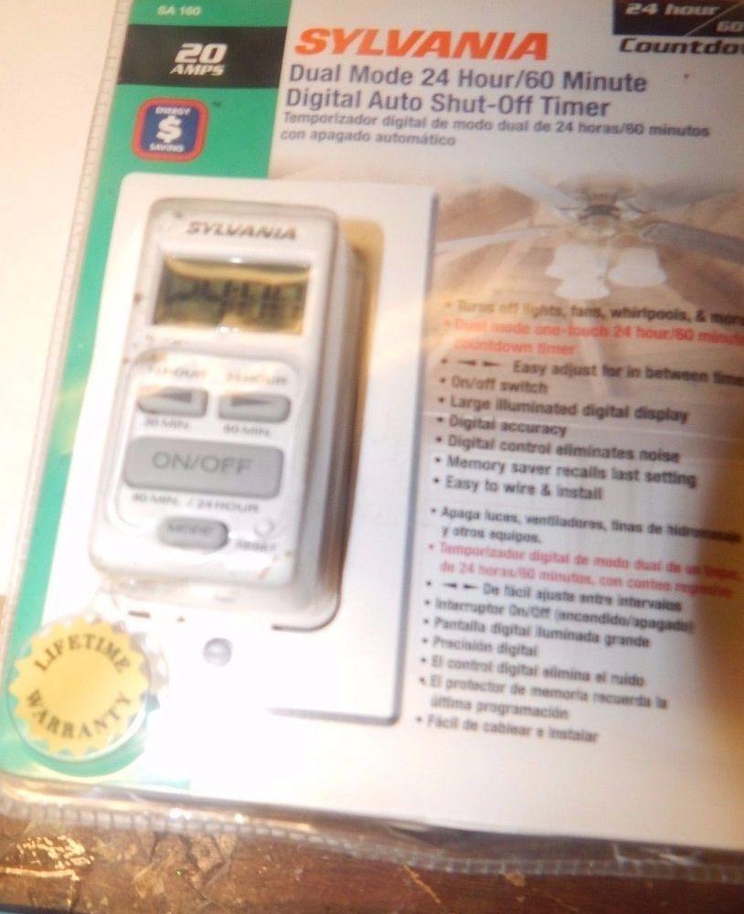 Sylvania SA160 20 Amp Dual Mode 24-Hour/60 Minute Digital Auto Shut ...