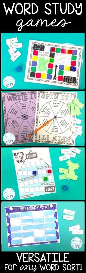 I love using these games to supplement Words Their Way instruction. They work with all word sorts and the kids love them!