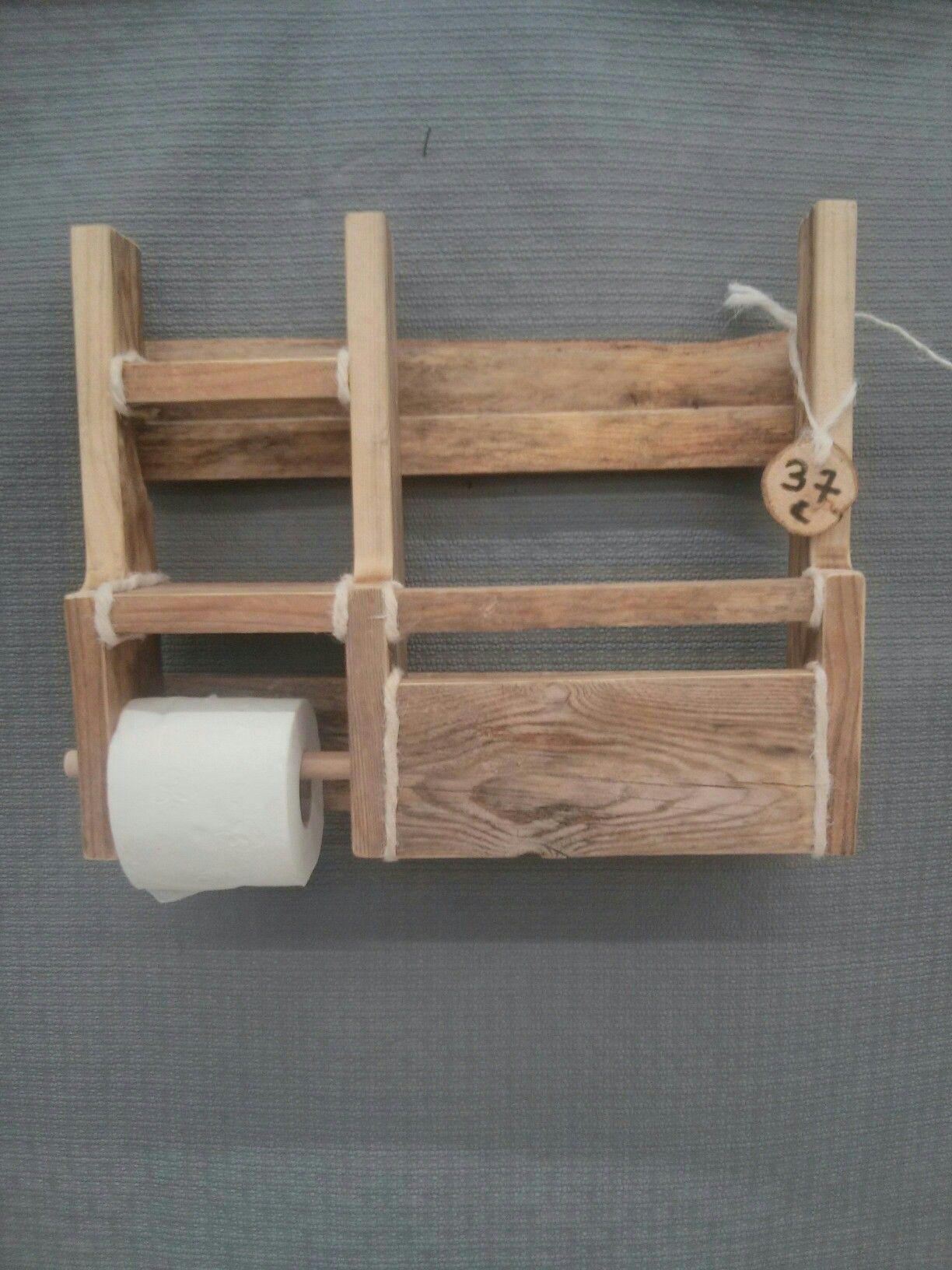 Toupalet Distributeur Papier Toilette Porte Revues Bois De