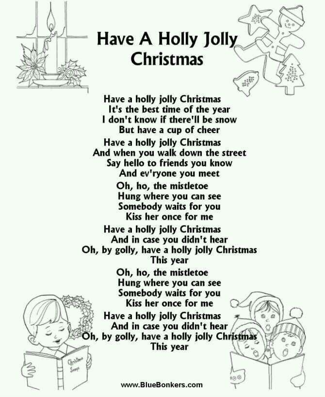 childrens christmas songs list