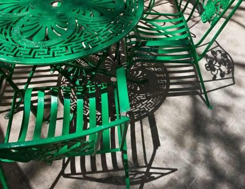 Painted Iron Patio Furniture Green I Wanna Paint Mine Pink