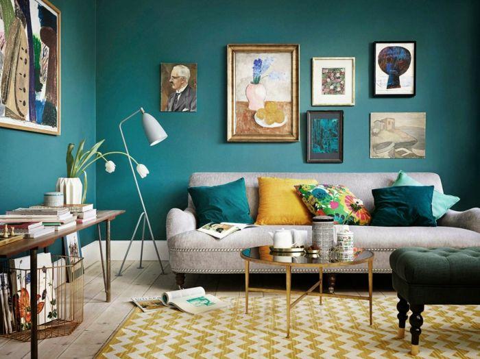 28 einrichtungsbeispiele und farbgestaltung mit der farbe t rkis appartement decoration. Black Bedroom Furniture Sets. Home Design Ideas