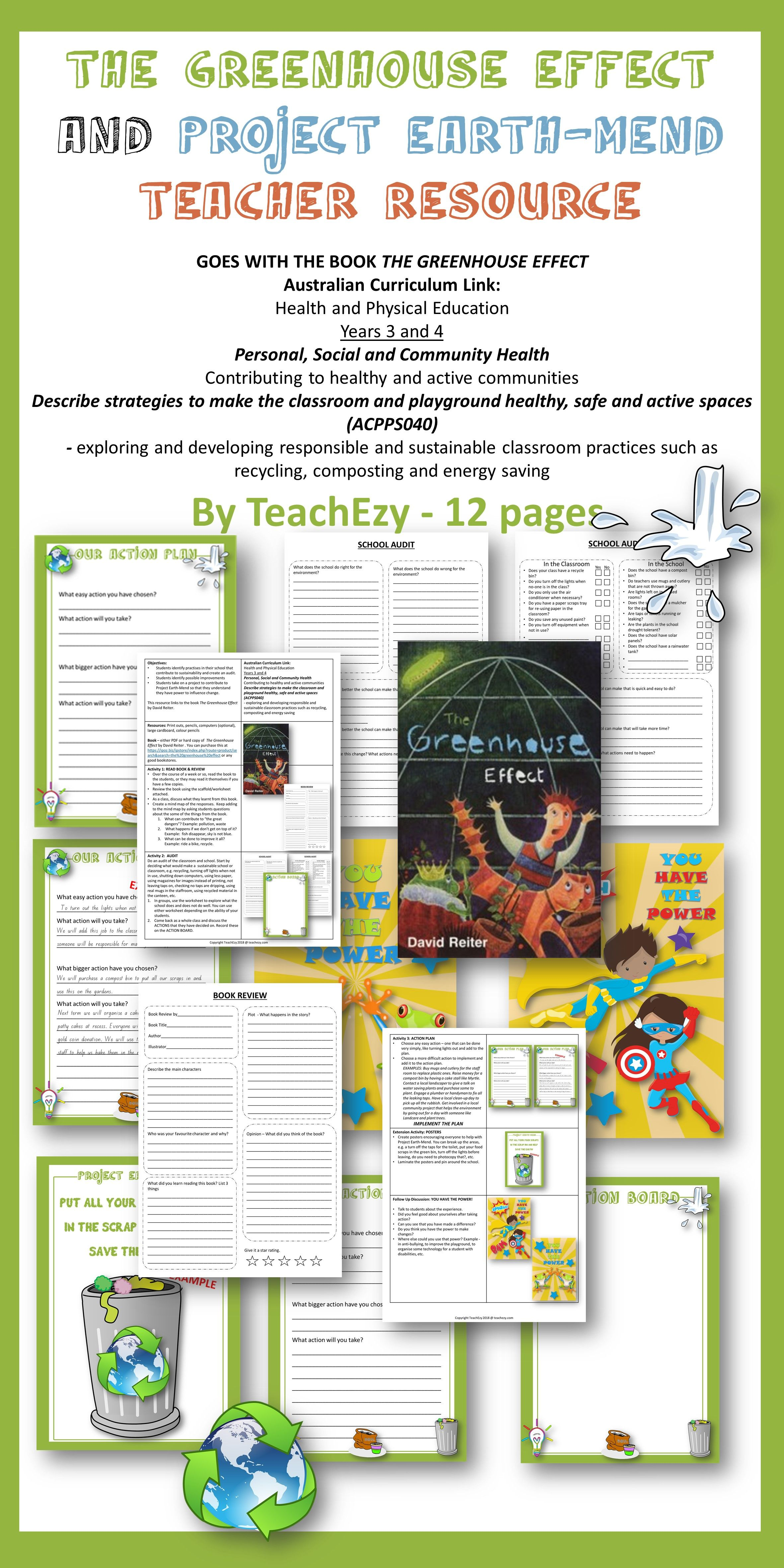 The Greenhouse Effect And Project Earth Mend Teacher