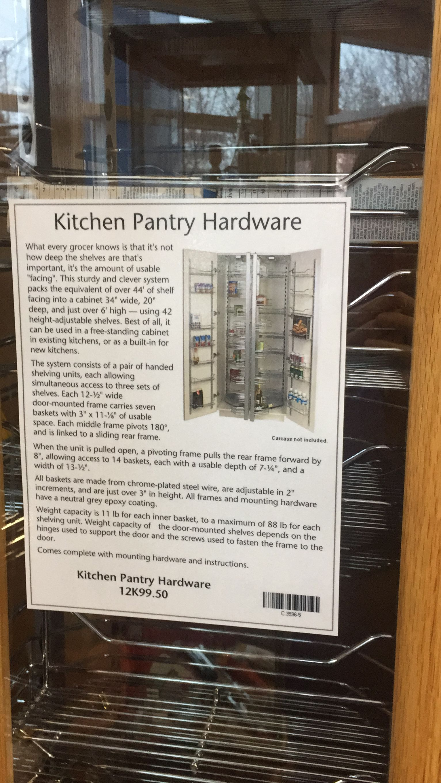 Lee Valley: pantry space saving ideas