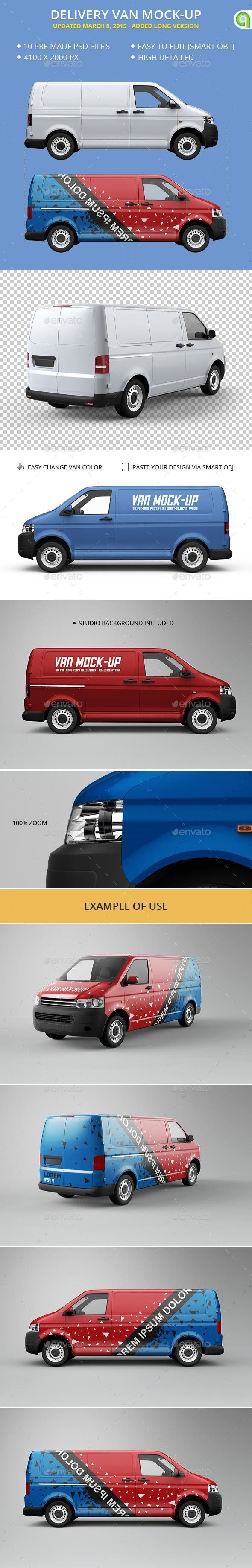 Van MockUp for 8 MockUp psd template VehicleMockup