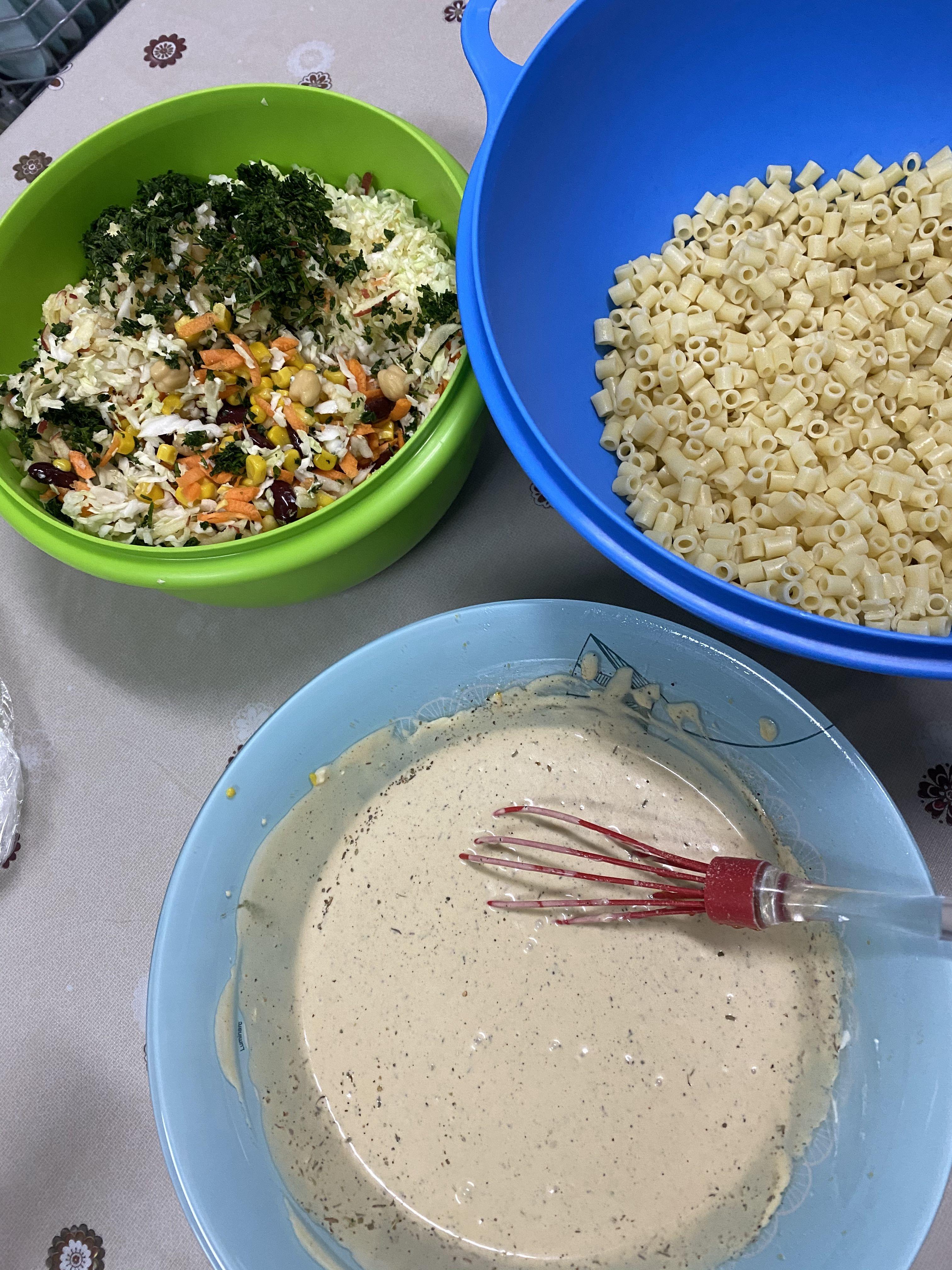 وصفة سلطة المعكرونه بالخضار مكتوبة بالتفصيل Cooking Recipes Recipes Cooking