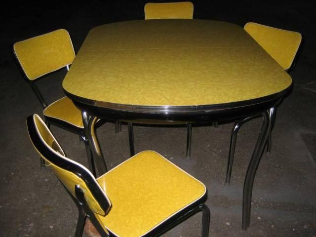 Retro Hanbury House Black Kitchen Table Set Black Kitchen Table Kitchen Table Settings