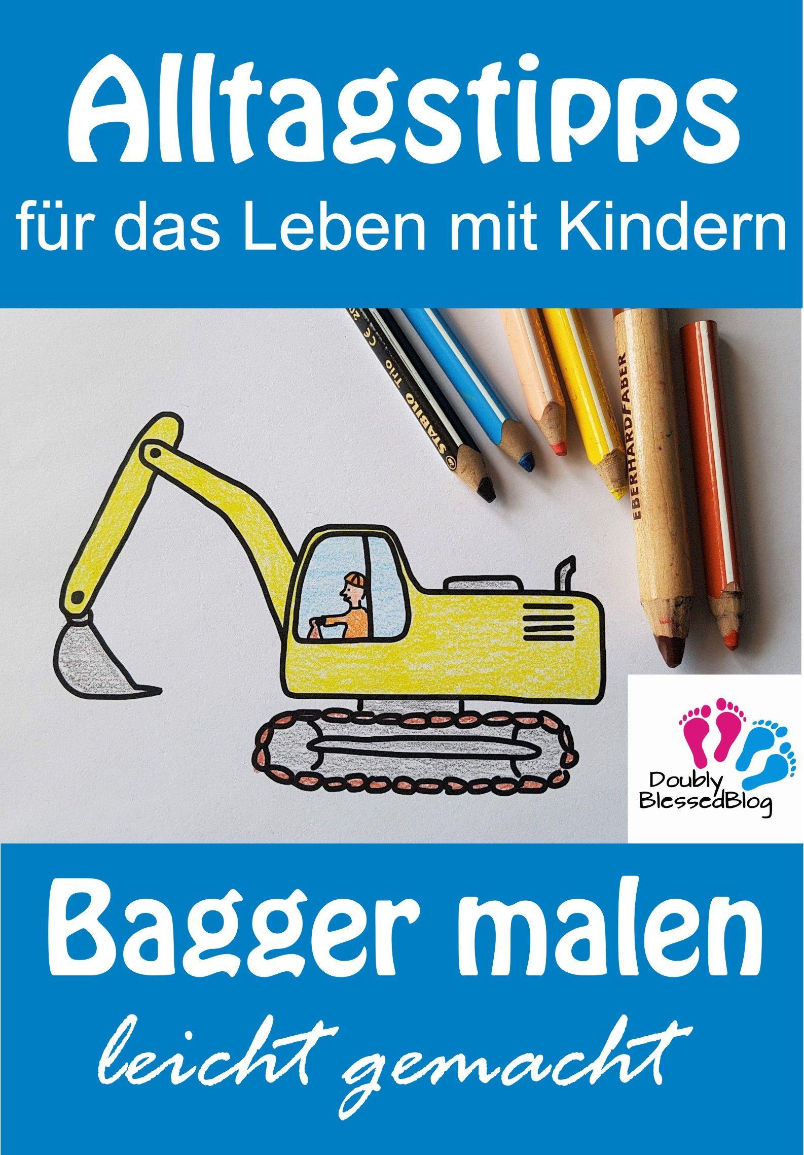 Bagger Malen Leicht Gemacht Bagger Freunde Buch Und Malen