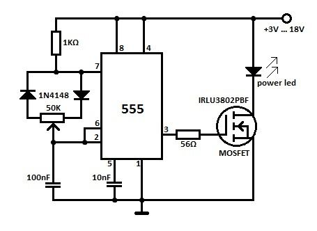 high power led dimmer circuit electronics in 2019 led. Black Bedroom Furniture Sets. Home Design Ideas
