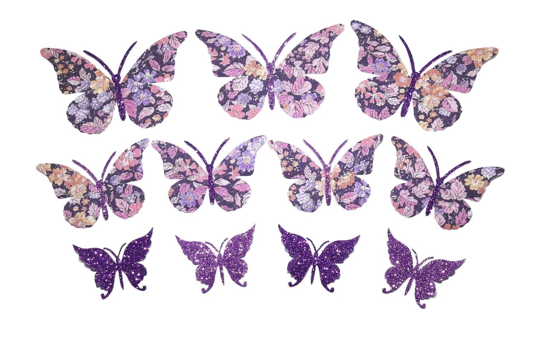 Appliques Thermocollants Liberty A Repasser Lot De 11 Papillons Liberty Prince George Avec Tissus Pailletes Parme Et Violet De La Bout Etsy Butterfly Dragonfly