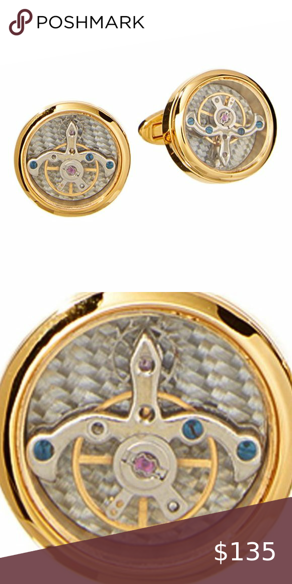 💛HP💛 Goldtone Stainless Steel Watch Cuff Links