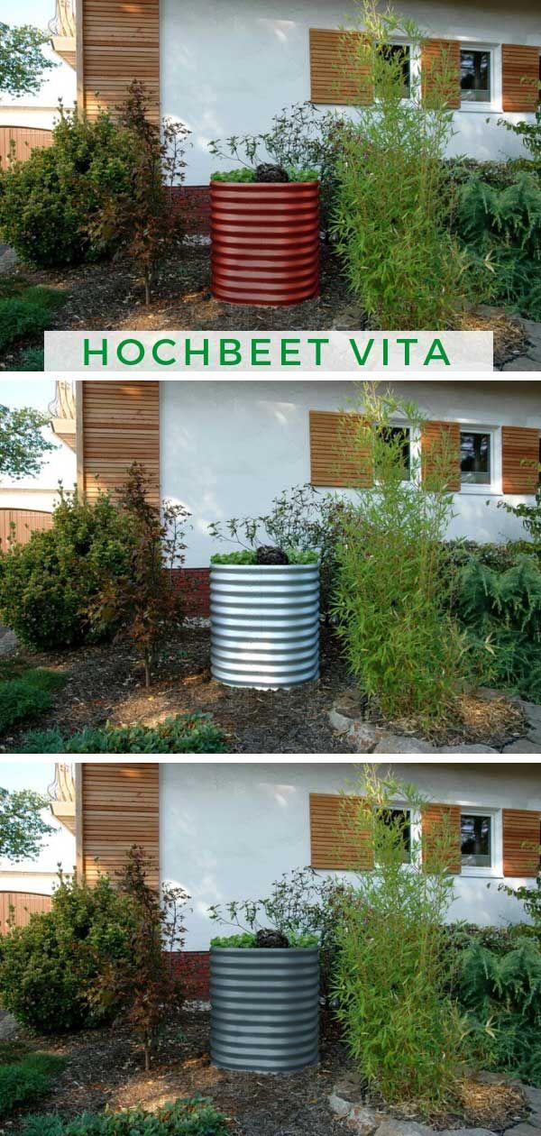 Hochbeet Vita Rund 858 Hochbeet Hochbeet Bepflanzen Und Anpflanzung
