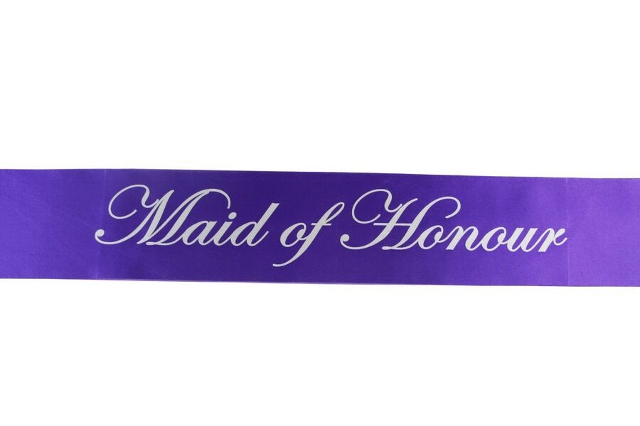 Purple Sashes BRIDE TO BE,HEN PARTY,BRIDESMAID,MAID OF HONOUR