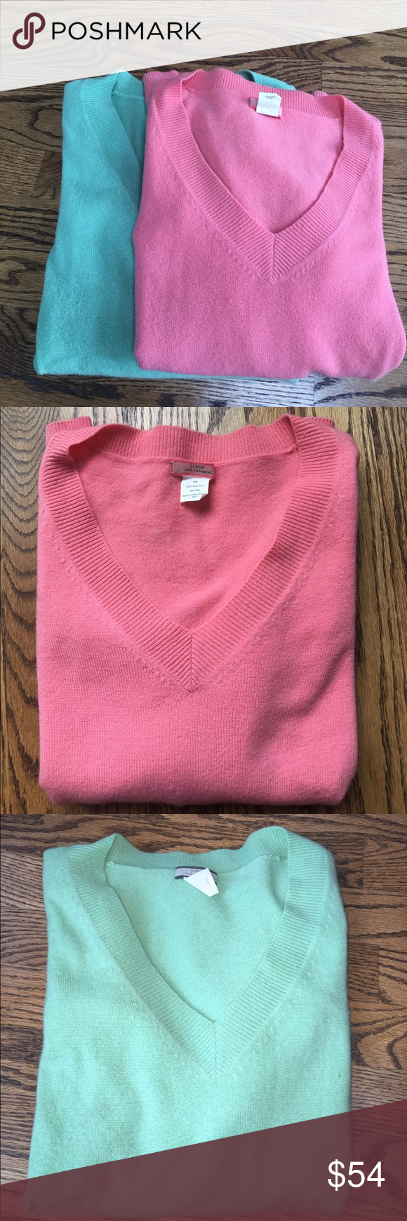Set of 2 j.crew cashmere v-neck sweaters size XS | D, Set of and ...