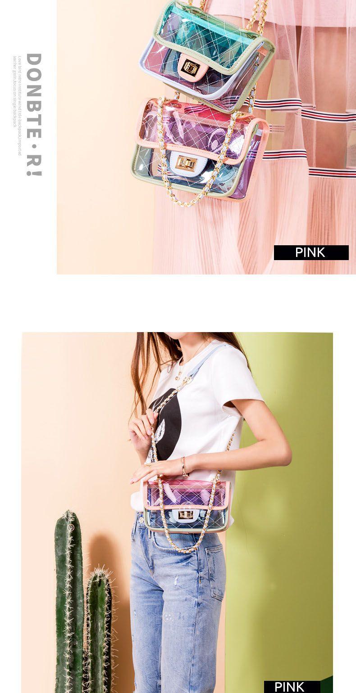 Light Green Clear Purse Cute Transparent Crossbody Bags