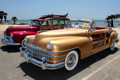 1947 Chrysler Town Country Gold American Classic Cars Woody